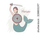 vector illustration of mermaid... | Shutterstock .eps vector #328803197