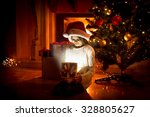 portrait of cute girl sitting...   Shutterstock . vector #328805627