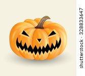 scary halloween pumpkin | Shutterstock .eps vector #328833647