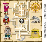 maze with pirates. vector game...   Shutterstock .eps vector #328844303