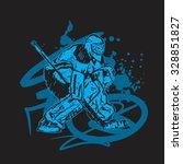 goalie sketch | Shutterstock .eps vector #328851827