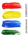 set of strokes of multicolored... | Shutterstock . vector #328856537