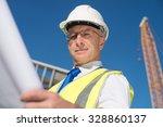 construction engineer in... | Shutterstock . vector #328860137