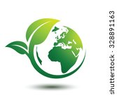 green earth concept with leaves ...   Shutterstock .eps vector #328891163