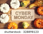 cyber monday message with... | Shutterstock . vector #328898123