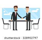 business people make a deal.... | Shutterstock .eps vector #328902797