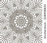 mandala. coloring page. vintage ... | Shutterstock .eps vector #328908833