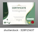 green certificate template with ... | Shutterstock .eps vector #328915637