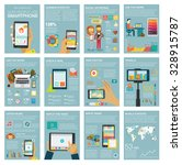 social media infographic set... | Shutterstock .eps vector #328915787