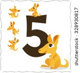 animal numbers for kids  5... | Shutterstock .eps vector #328930817