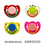 latex pacifier with transparent ... | Shutterstock . vector #328932233