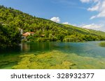 krka river  in the krka... | Shutterstock . vector #328932377