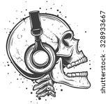 vector illustration of a skull... | Shutterstock .eps vector #328933667