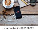 brand new apple iphone 6 plus... | Shutterstock . vector #328938623