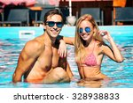 young people having fun in the... | Shutterstock . vector #328938833