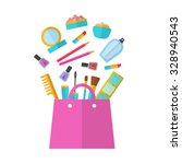 make up concept vector flat... | Shutterstock .eps vector #328940543