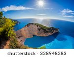 navagio beach with shipwreck... | Shutterstock . vector #328948283