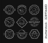 restaurant logo in liner style. ... | Shutterstock .eps vector #328956683