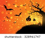 halloween background with... | Shutterstock .eps vector #328961747
