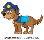 police dog theme image 1  ... | Shutterstock .eps vector #328963433