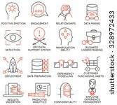 vector set of 16 icons related... | Shutterstock .eps vector #328972433