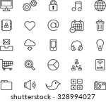 social media   communication... | Shutterstock .eps vector #328994027