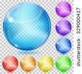 set of transparent glass...   Shutterstock .eps vector #329000417