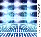 blue dot empty perspective... | Shutterstock . vector #329010833
