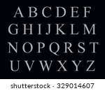 alphabet on a black background | Shutterstock . vector #329014607