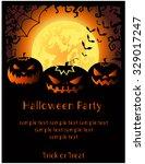 halloween party card.vector... | Shutterstock .eps vector #329017247