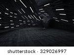 empty dark abstract concrete... | Shutterstock . vector #329026997