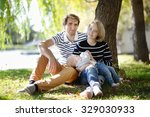 happy parenthood  young parents ... | Shutterstock . vector #329030933