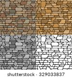 Set 4 Seamless Grunge Stone...