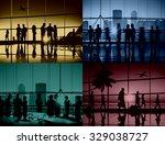 business people meeting... | Shutterstock . vector #329038727