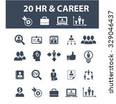 hr  career  job  cv  employment ... | Shutterstock .eps vector #329046437