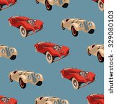 seamless pattern with retro ... | Shutterstock .eps vector #329080103