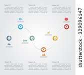 timeline infographic layout... | Shutterstock .eps vector #329096147