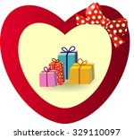 beautiful gift card with red...   Shutterstock .eps vector #329110097
