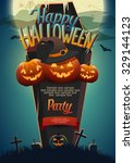 halloween poster with space for ...   Shutterstock .eps vector #329144123