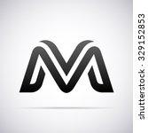 logo for letter m | Shutterstock .eps vector #329152853