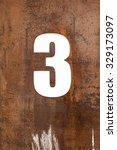 aged metal number | Shutterstock . vector #329173097