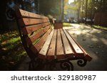 Bench In The Autumn Park ...