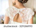retro wedding dress  focus on... | Shutterstock . vector #329186993