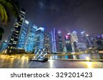downtown  singapore   august 23 ... | Shutterstock . vector #329201423