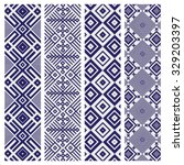 royal blue geometric pattern... | Shutterstock .eps vector #329203397
