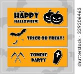 halloween style banner set with ... | Shutterstock .eps vector #329206463