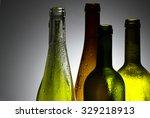 decorative wine bottles | Shutterstock . vector #329218913