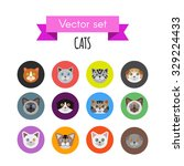set of cat icons | Shutterstock .eps vector #329224433
