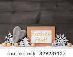 golden christmas decoration on... | Shutterstock . vector #329239127