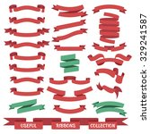 useful set of different ribbon... | Shutterstock . vector #329241587